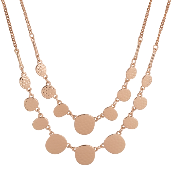 2-layer-dented-coins-linked-necklace