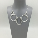 5-Linked Hoops Short Necklace