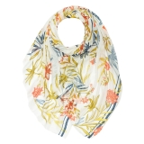 Aromatic Floral Print Scarf