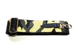 Canvas Black, Grey & Mustard Camouflage Bag Strap