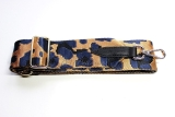 Canvas Gold, Navy & Black Camouflage Bag Strap