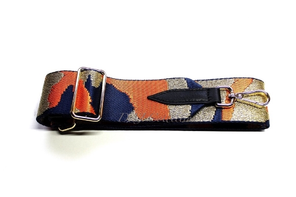 canvas-gold-orange-navy-camouflage-bag-strap