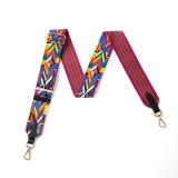 Canvas Multi-Coloured Aztec Print Bag Strap