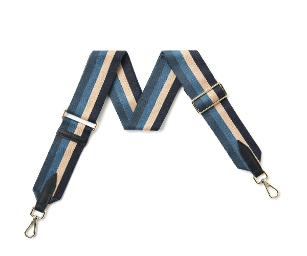 canvas-navy-denim-beige-stripe-bag-strap-gold-finish