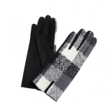 Checked Tweed Gloves