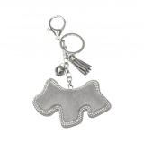 Crystal Border Scottie Dog & Charms Keyring