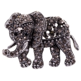 Diamante Elephant Brooch