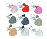 Diamante Heart & Charms Keyring