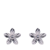 Diamante Ribbed Flower Earrings