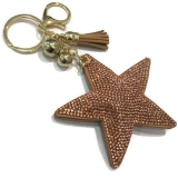Diamante Star & Charms Keyring