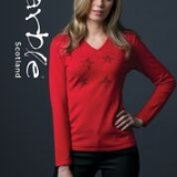 Diamante Stars V-Neck Jumper