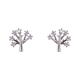 Diamante Tree-Of-Life Stud Earrings