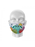 Childs Monster Printed Face Mask