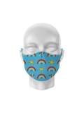 Childs Rainbow Printed Face Mask
