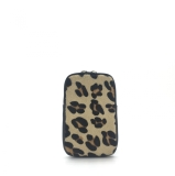 Italian Leather Animal Print Phone Pouch Cross Body Bag