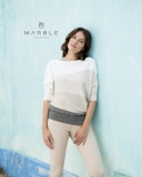 Marble Diagonal Wide Striped Jumper