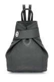 Italian Leather Backpack With Silver Knob