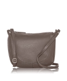 Italian Leather Curved Stitch Detail Shoulder Bag