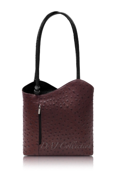 italian-leather-ostrich-effect-backpack-burgundy-black