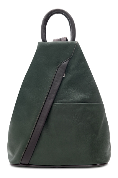italian-leather-pyramid-zipped-backpack-green-tan