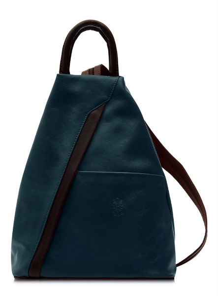 italian-leather-pyramid-zipped-backpack-teal-brown