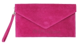 Italian Leather Suede Clutch Bag