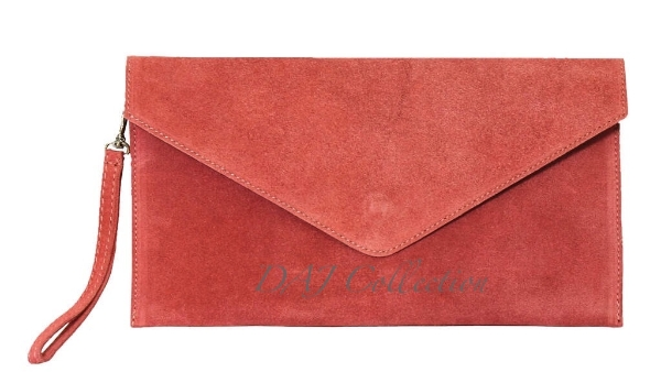 italian-leather-suede-clutch-bag-coral