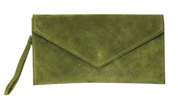 italian-leather-suede-clutch-bag-olive-green