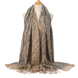Leopard & Stripes Reversible Scarf