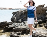 Marble Ombre Stripe Printed Top