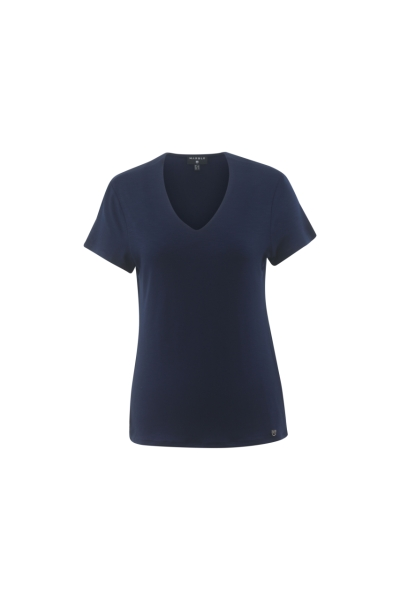 marble-plain-vneck-shortsleeved-top-103-navy-14-size-2
