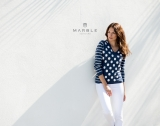 Marble Spots & Stripes Printed Jumper