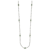 Moon Stone & Crystal Beaded Long Necklace