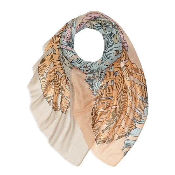 palm-leaves-print-scarf