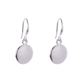 Polished Disc Drop Earrings