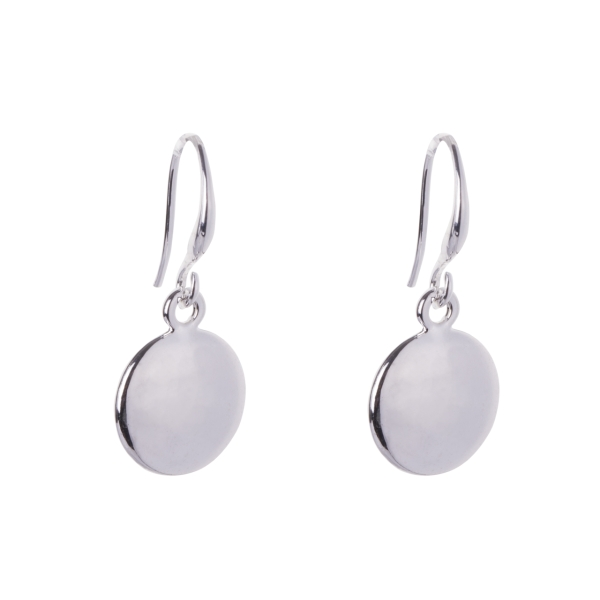 polished-disc-drop-earrings-silver