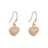 Polished Heart Drop Earrings