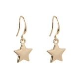 Polished Star Drop Earrings