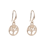 Round Tree-of-Life Drop Earrings