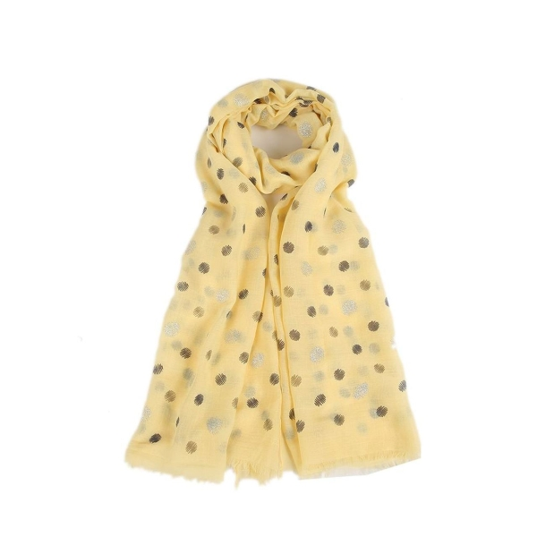 sparkly-faded-polka-dots-scarf-yellow