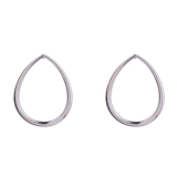 Teardrop Hoop Stud Earrings