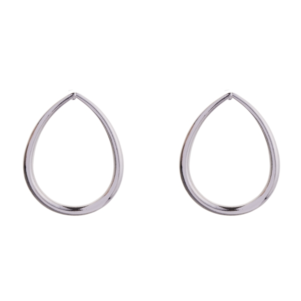 teardrop-hoop-stud-earrings-silver