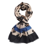 Two-Tone Leopard Print Scarf